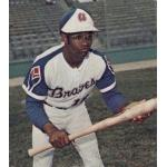 Atlanta Braves (1973) Sonny Jackson wearing the Atlanta Braves home uniform during the 1973 season