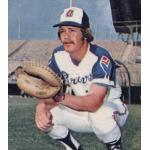 Atlanta Braves (1974) Johnny Oates wearing the Atlanta Braves home uniform during the 1974 season