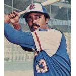 Atlanta Braves (1975) Cito Gaston wearing the Atlanta Braves road uniform during the 1975 season