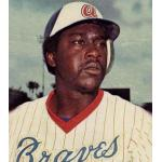 Atlanta Braves (1977) Gary Matthews wearing the Atlanta Braves home uniform during the 1977 season