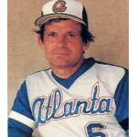 Atlanta Braves (1979) Bobby Cox wearing the Atlanta Braves road uniform during the 1979 season