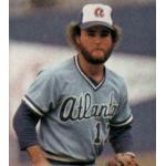 Atlanta Braves (1980) Glenn Hubbard wearing the Atlanta Braves road uniform during the 1980 season