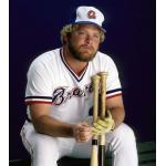 Atlanta Braves (1980) Bob Horner wearing the Atlanta Braves home uniform during the 1980 season