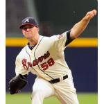 Atlanta Braves (2013) Alex Wood wearing the Atlanta Braves home cream alternate uniform during the 2013 season