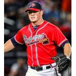 Atlanta Braves (2012) Craig Kimbrel wearing the Atlanta Braves alternate red uniform during a game in 2012 season