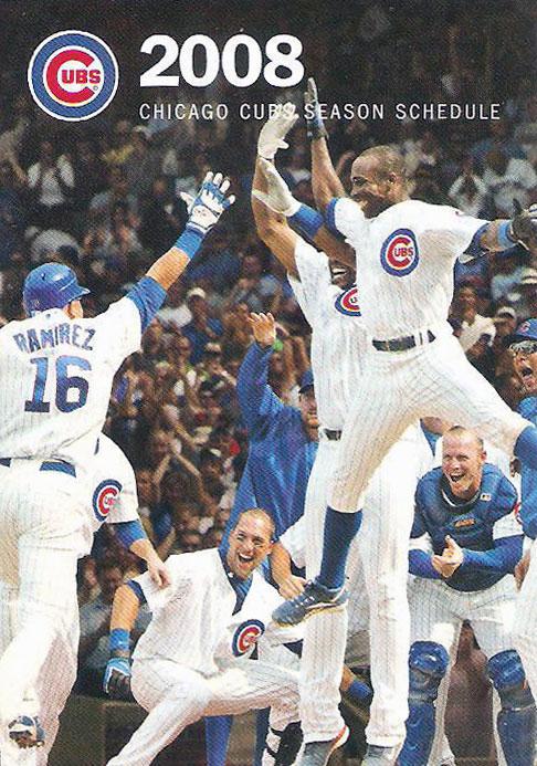 Chicago Cubs Pocket Schedule Pocket Schedule (2008) -  SportsLogos.Net