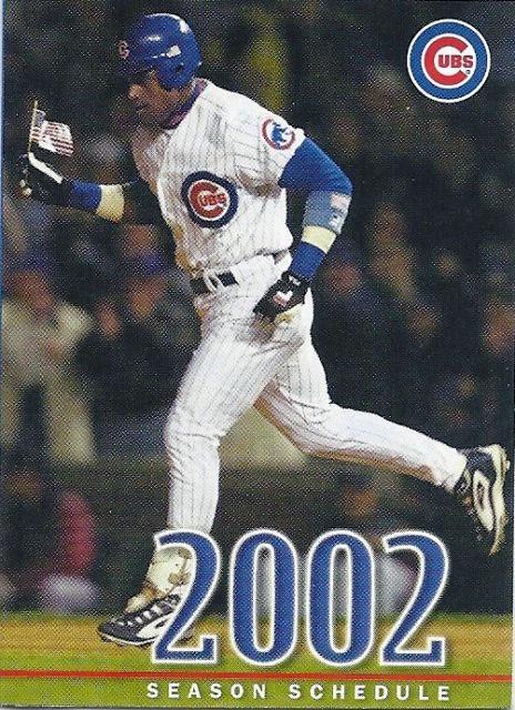 Chicago Cubs Pocket Schedule Pocket Schedule (2002) -  SportsLogos.Net