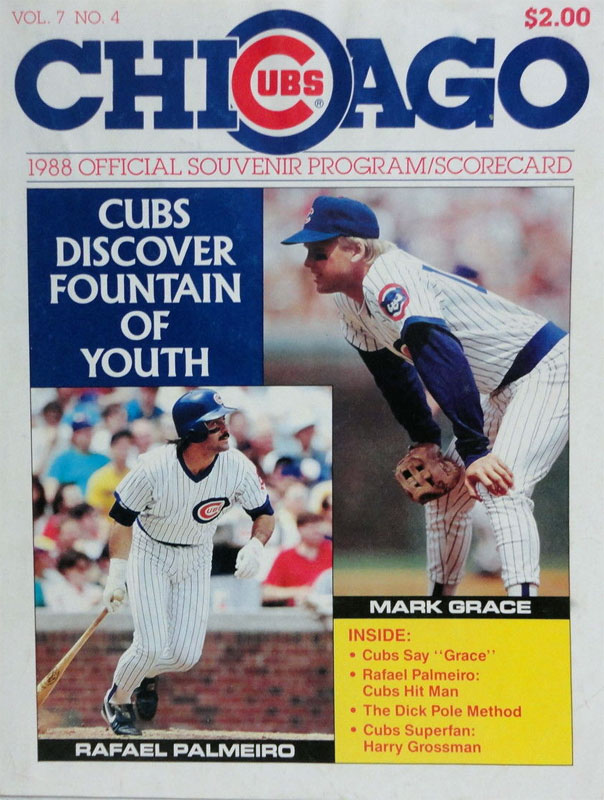 Chicago Cubs Program Program (1988) -  SportsLogos.Net