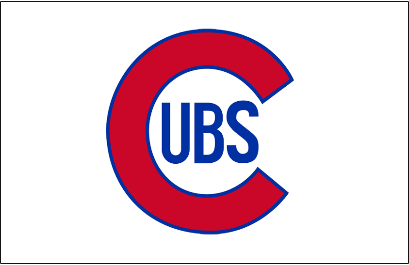 Chicago Cubs Logo Jersey Logo (1937-1940) - Cubs primary logo on white, worn on Chicago Cubs home jersey from 1937 to 1940. SportsLogos.Net