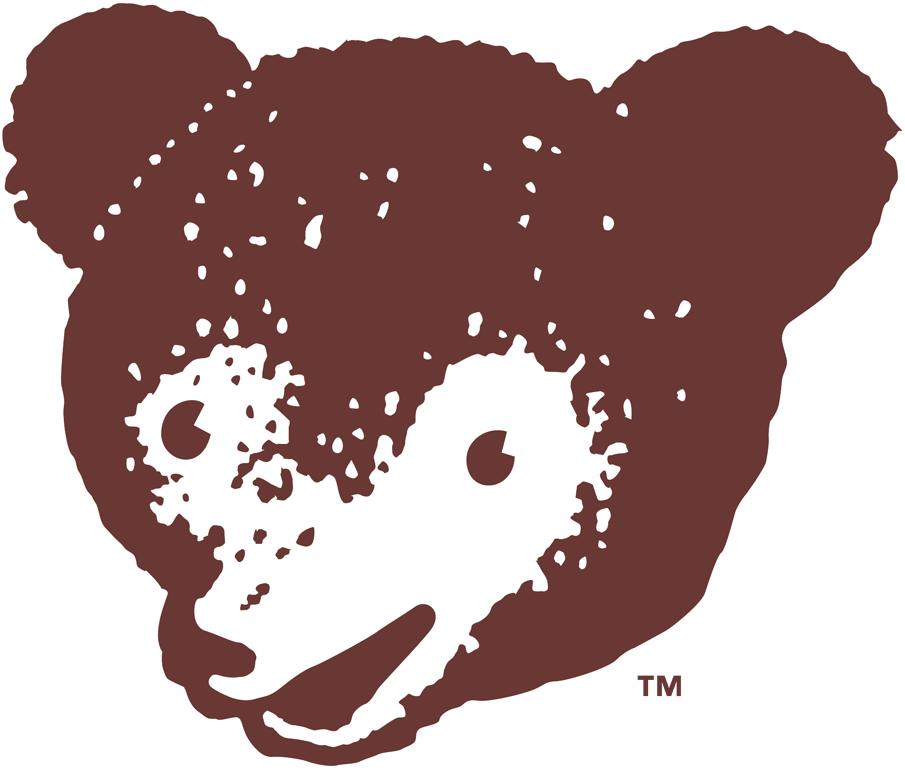 Chicago Cubs Logo Alternate Logo (1950-1956) - A brown baby bear head SportsLogos.Net