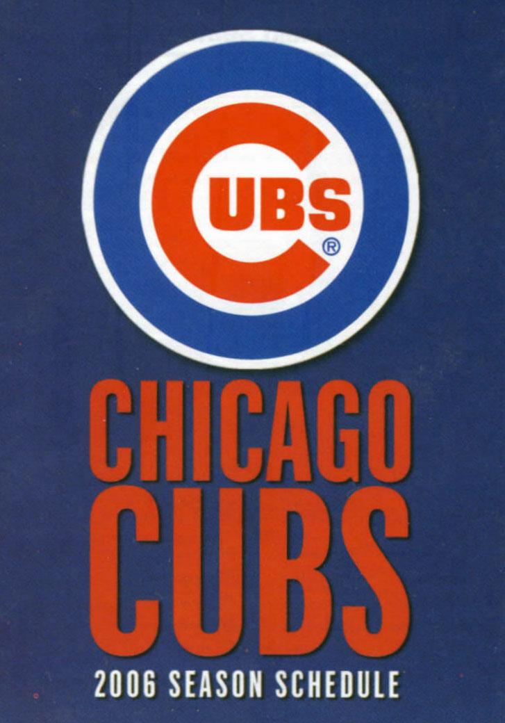 Chicago Cubs Pocket Schedule Pocket Schedule (2006) -  SportsLogos.Net