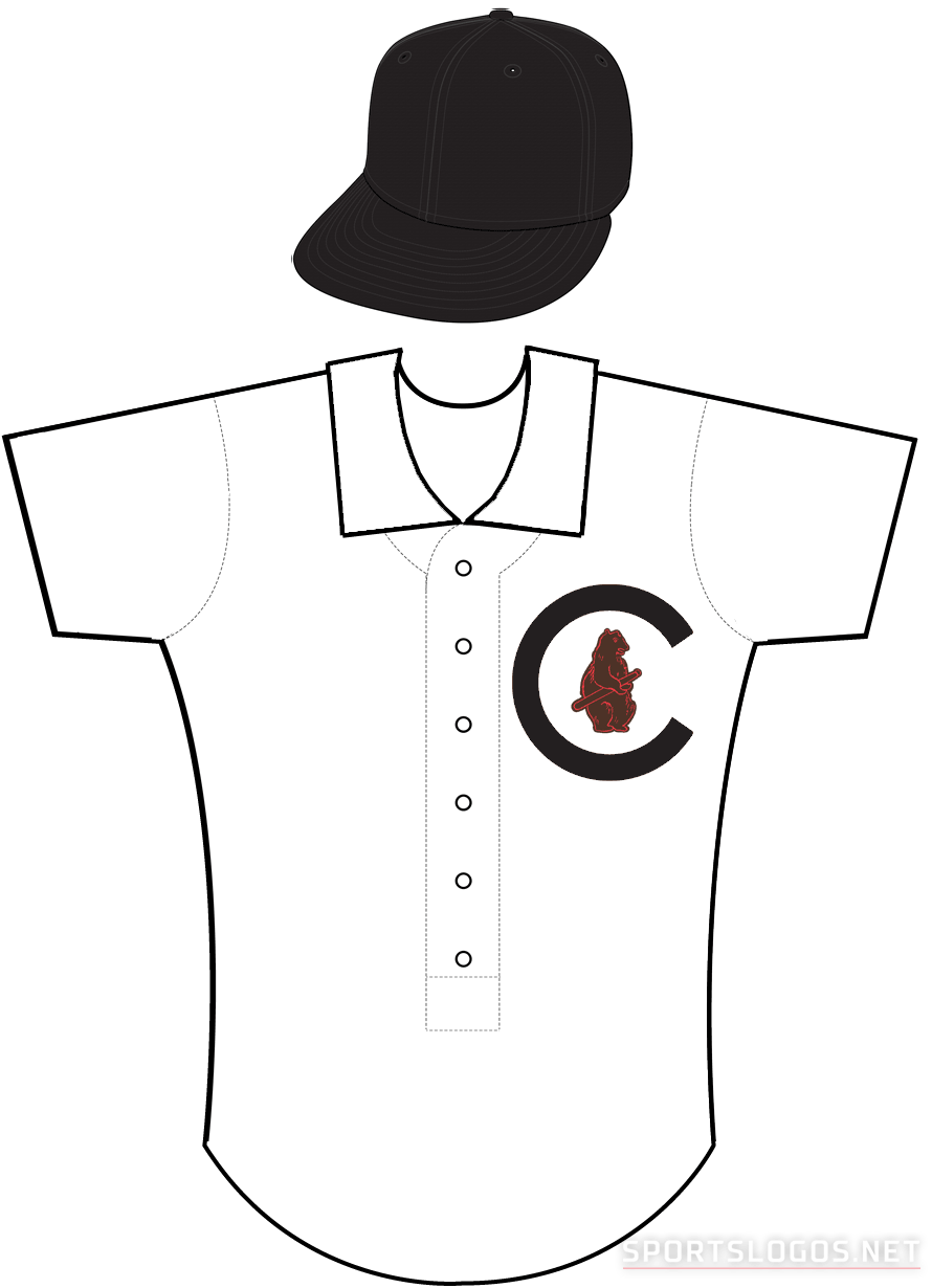 Chicago Cubs Uniform Alternate Uniform (1908) - Chicago Cubs uniform worn during home games in the 1908 World Series only SportsLogos.Net