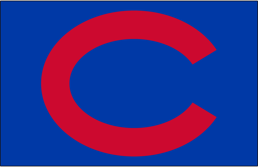 Chicago Cubs Logo Cap Logo (1937-1939) - A red C on royal blue, worn on Chicago Cubs home and road caps from 1937 through 1939 SportsLogos.Net
