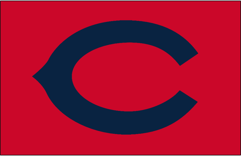 Chicago Cubs Logo Cap Logo (1931-1932) - A navy blue wishbone C on red, worn on Chicago Cubs road alternate caps in 1931 and 1932 SportsLogos.Net