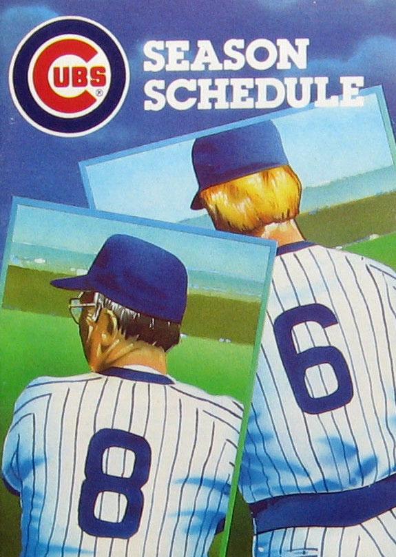 Chicago Cubs Pocket Schedule Pocket Schedule (1986) -  SportsLogos.Net