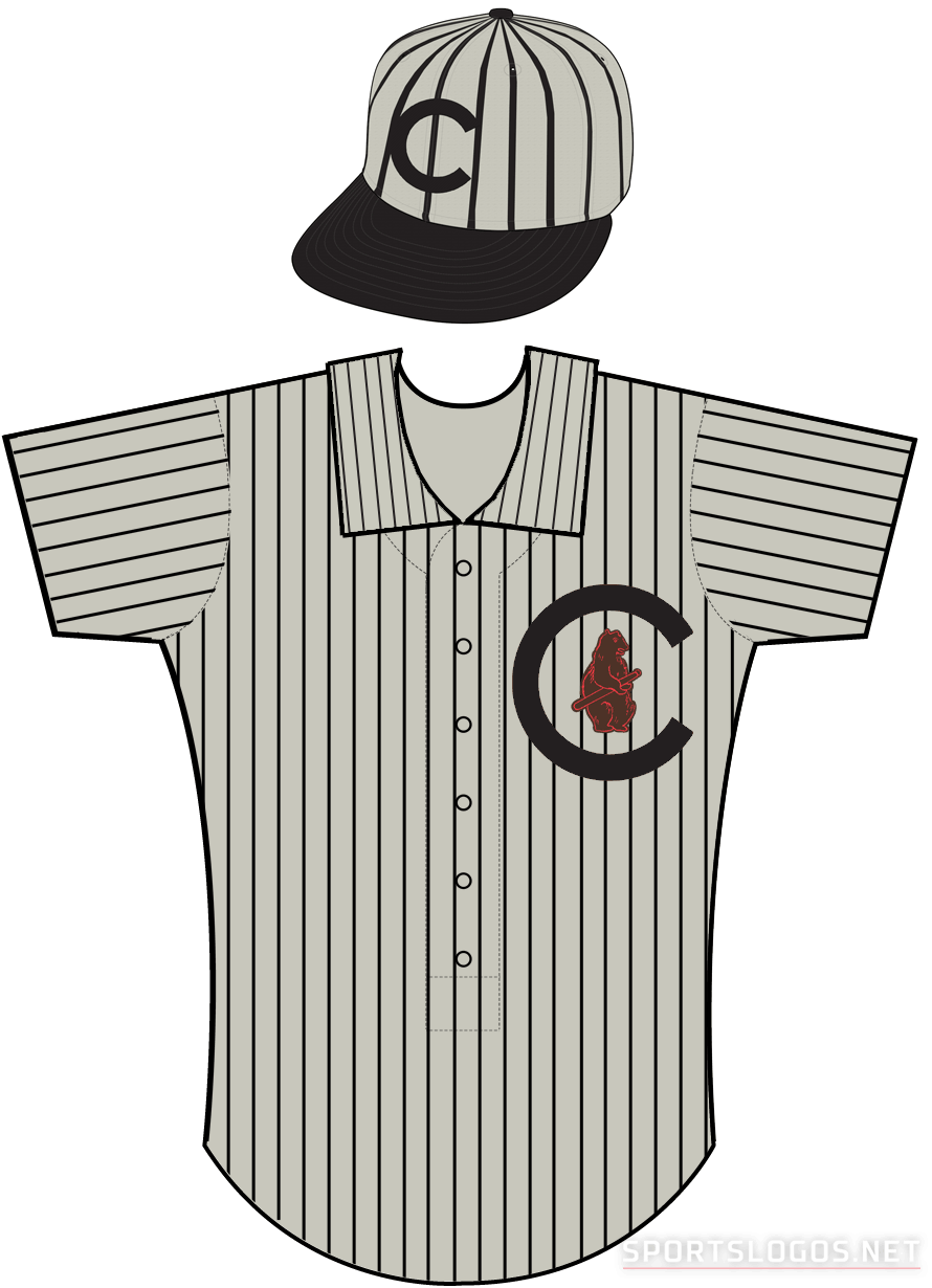 Chicago Cubs Uniform Road Uniform (1908-1910) - Chicago Cubs uniform worn during road games from 1908 through 1910 SportsLogos.Net
