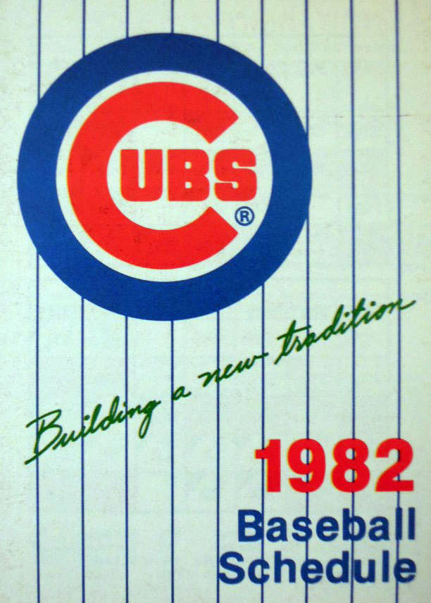 Chicago Cubs Pocket Schedule Pocket Schedule (1982) -  SportsLogos.Net