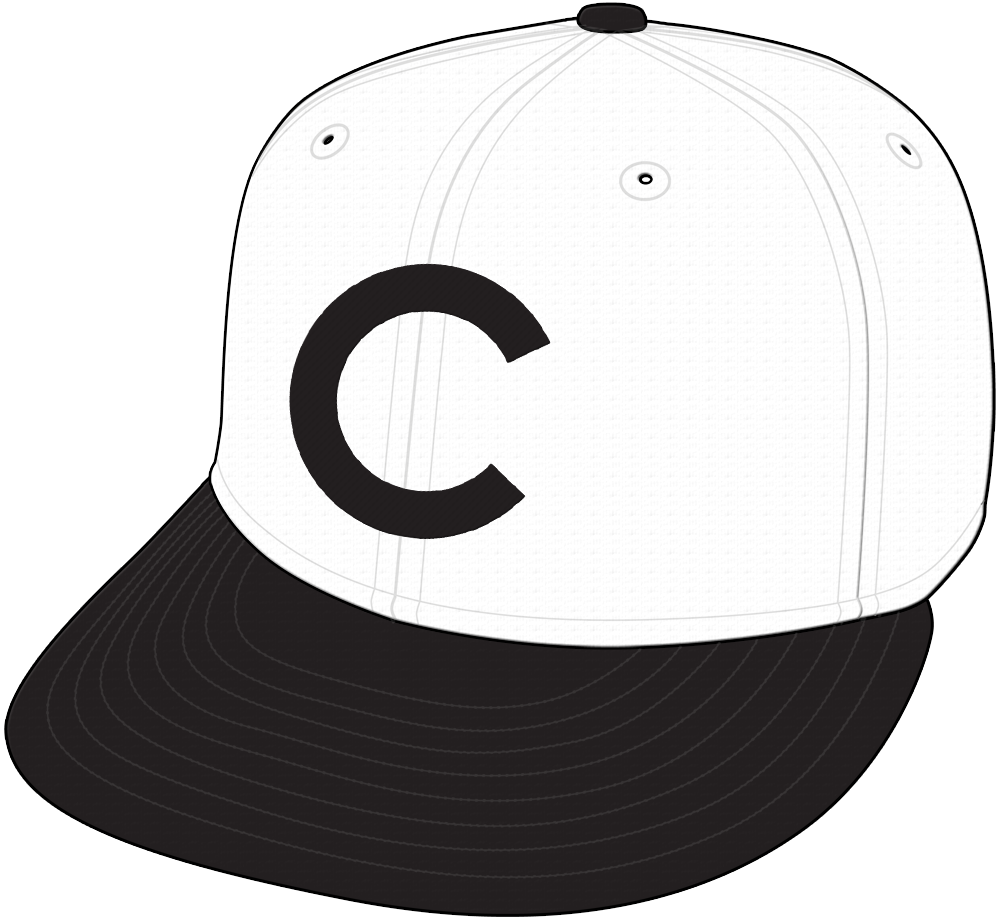 Chicago Cubs Cap Cap (1908-1910) - Cap worn by the Chicago Cubs during home games from 1908 through 1910 (not during the 1908 World Series) SportsLogos.Net