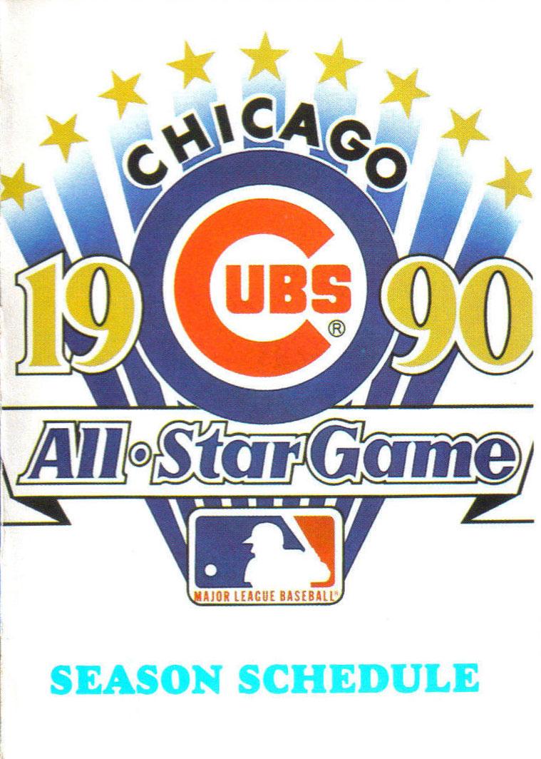 Chicago Cubs Pocket Schedule Pocket Schedule (1990) -  SportsLogos.Net