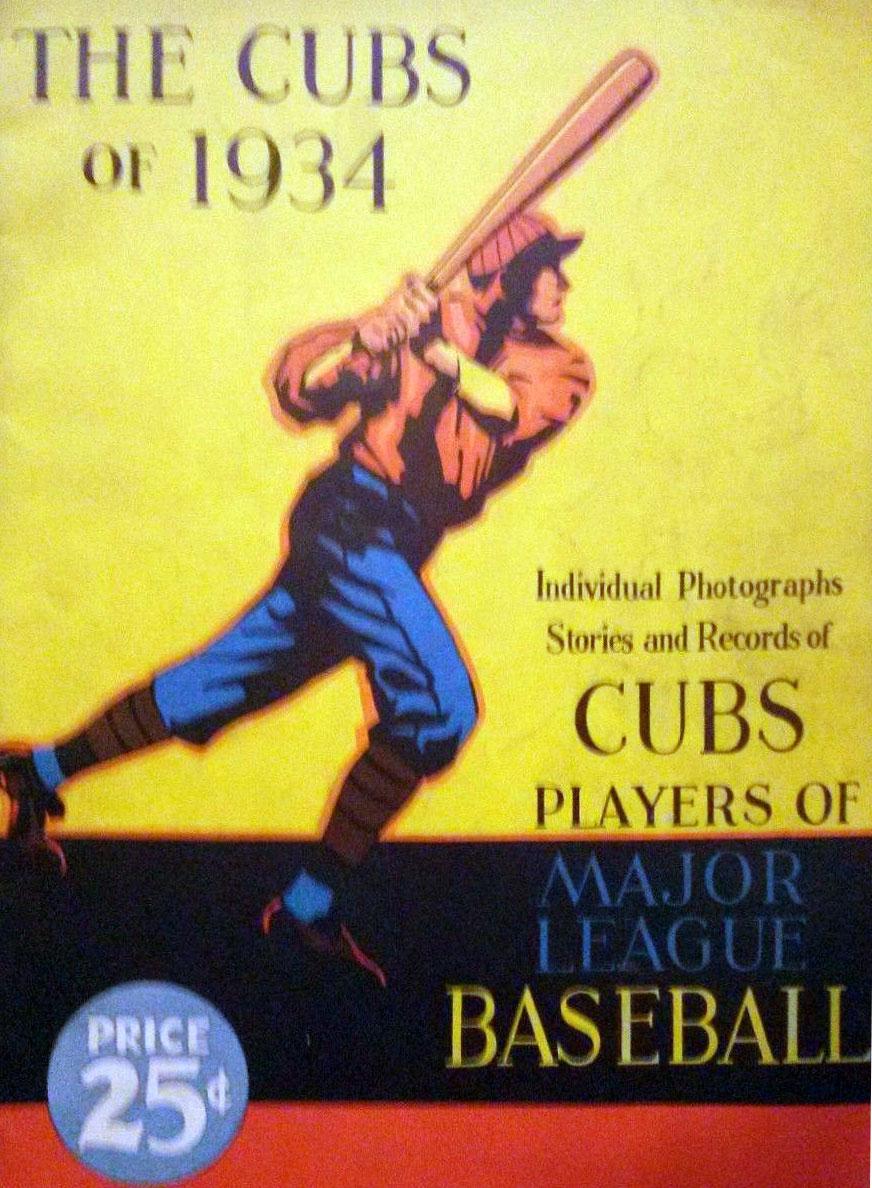 Chicago Cubs Program Program (1934) -  SportsLogos.Net
