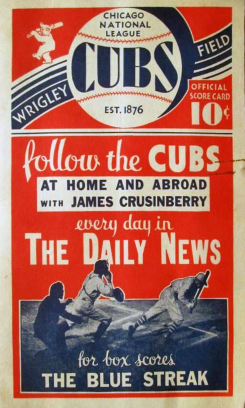 Chicago Cubs Program Program (1931) -  SportsLogos.Net
