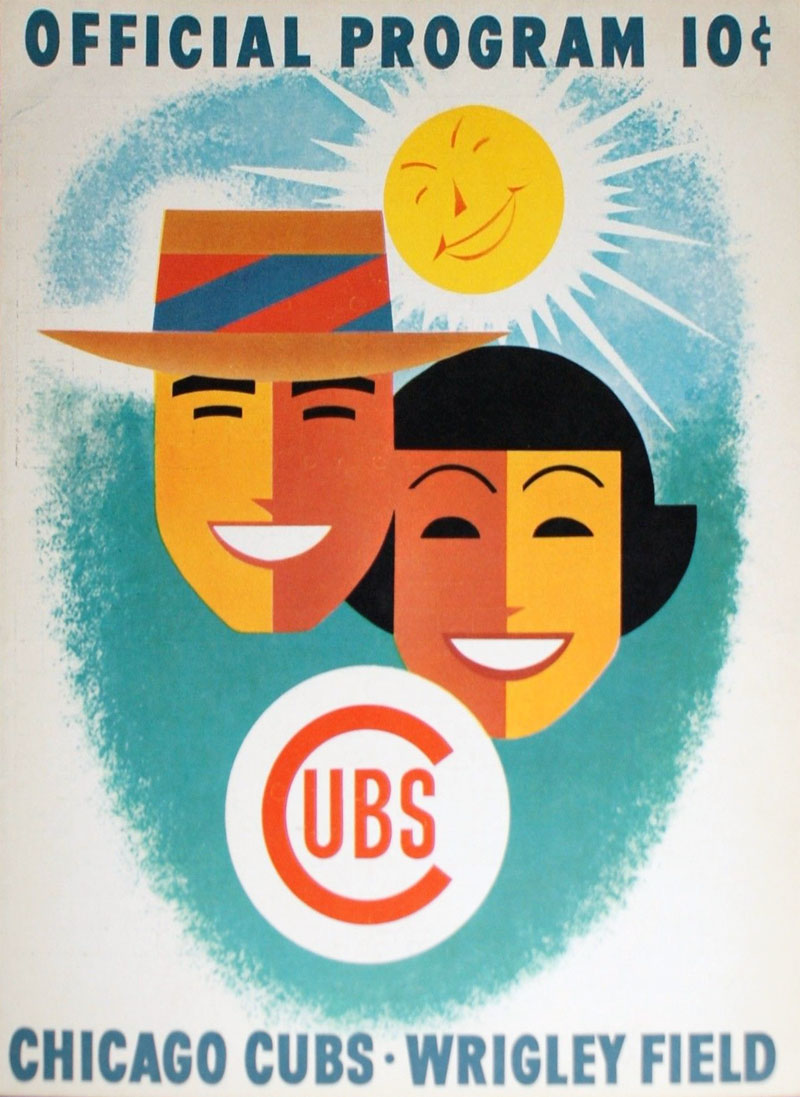 Chicago Cubs Program Program (1956) -  SportsLogos.Net
