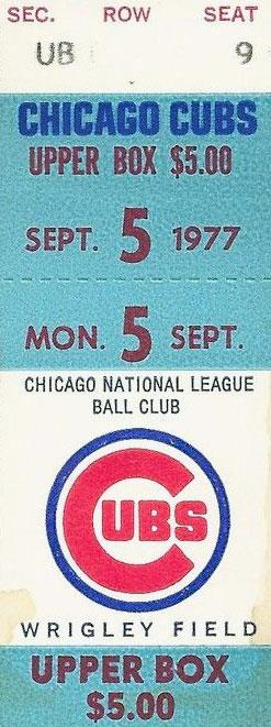Chicago Cubs Ticket Stub Ticket Stub (1977) -  SportsLogos.Net
