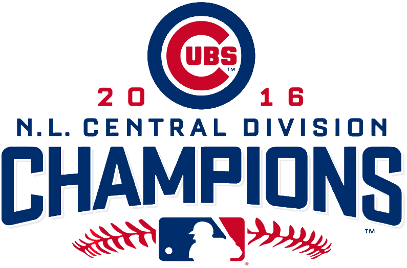 Chicago Cubs Logo Champion Logo (2016) - Chicago Cubs 2016 NL Central Division Champions logo SportsLogos.Net