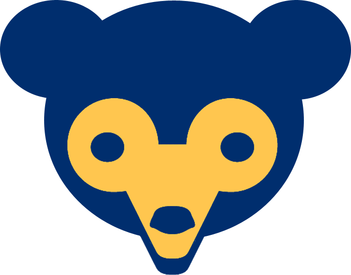 Chicago Cubs Logo Alternate Logo (1962-1971) - A navy blue bear cub head with tan face, rounded ears. Worn on sleeve of Chicago Cubs jerseys from 1962-71. Altered slightly for 1972 season to make ears less rounded. SportsLogos.Net