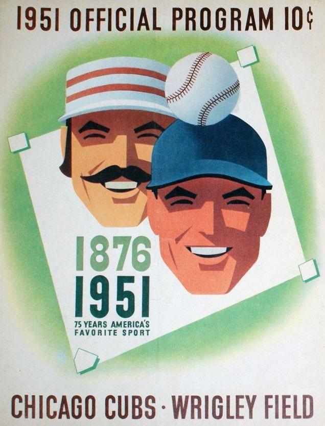 Chicago Cubs Program Program (1951) -  SportsLogos.Net