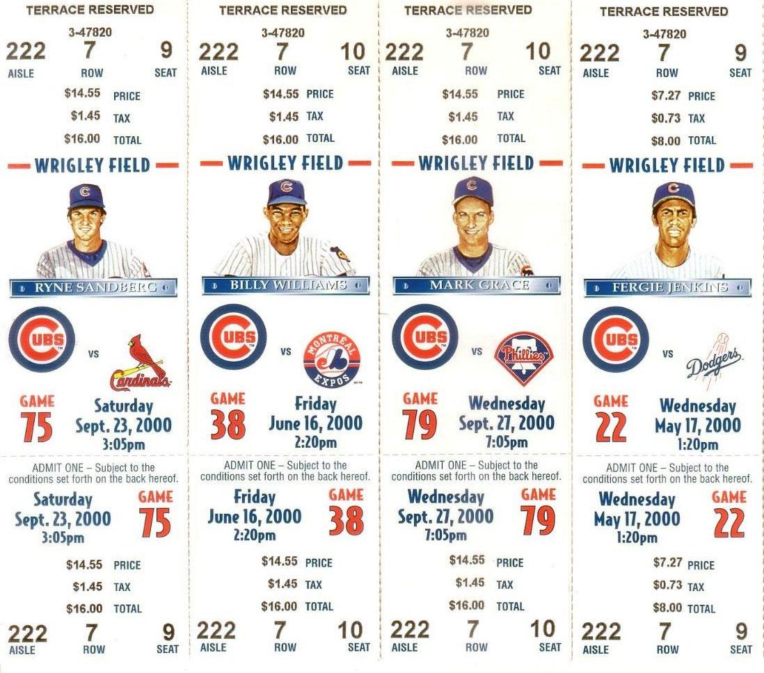 Chicago Cubs Ticket Stub Ticket Stub (2000) -  SportsLogos.Net