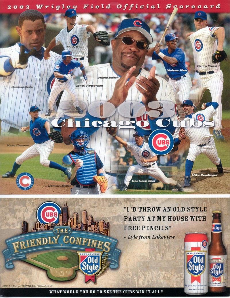 Chicago Cubs Program Program (2003) -  SportsLogos.Net