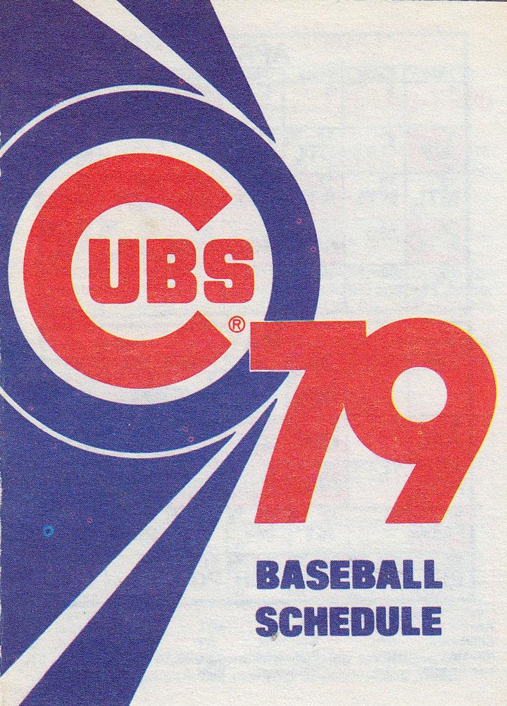 Chicago Cubs Pocket Schedule Pocket Schedule (1979) -  SportsLogos.Net