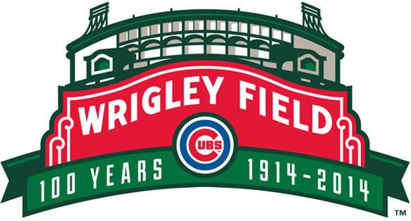 Chicago Cubs Logo Anniversary Logo (2014) - 100 Years of Wrigley Field logo SportsLogos.Net