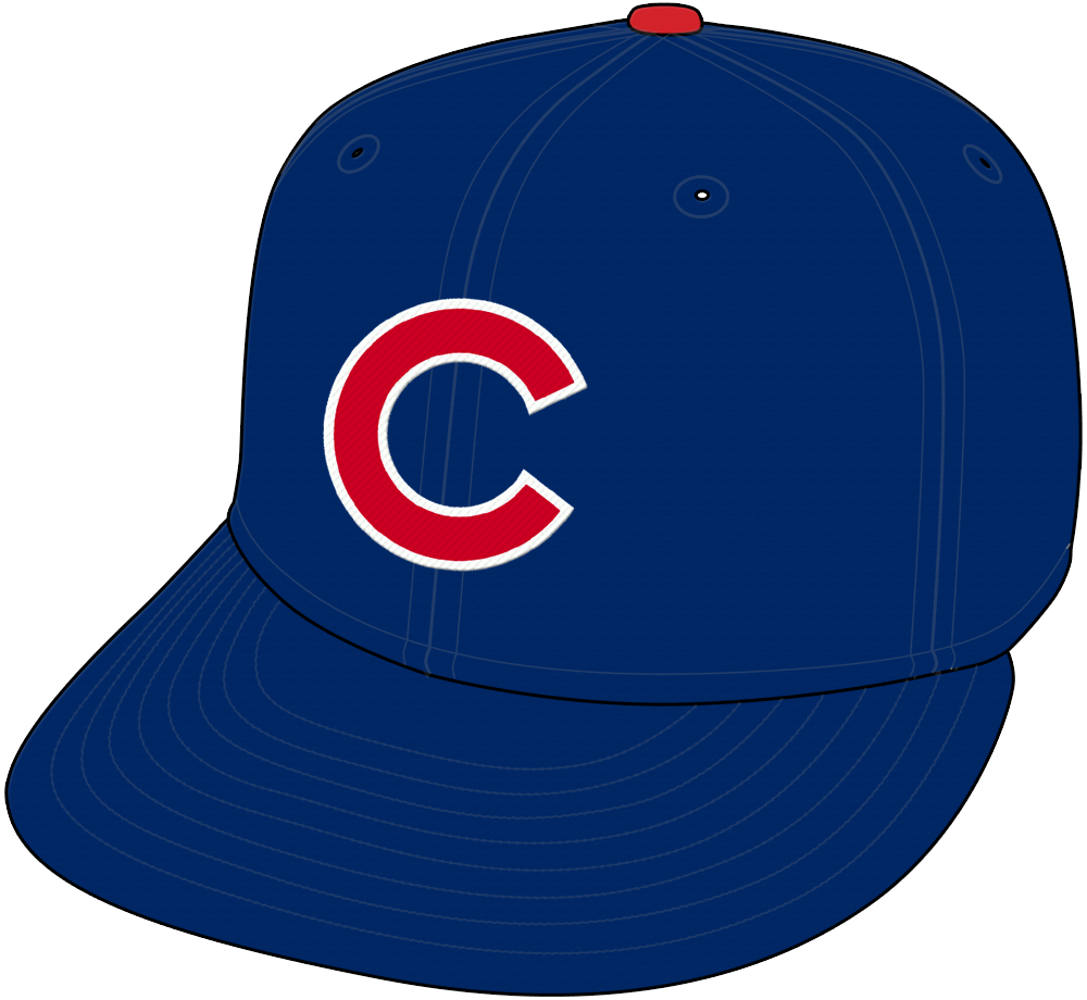 Chicago Cubs Cap Cap (1959-Pres) - Red C trimmed in white on blue cap with red pill SportsLogos.Net