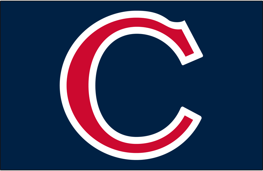 Chicago Cubs Logo Cap Logo (1934) - A red C outlined in white on dark navy blue. Worn on Chicago Cubs alternate home caps for the 1934 season SportsLogos.Net