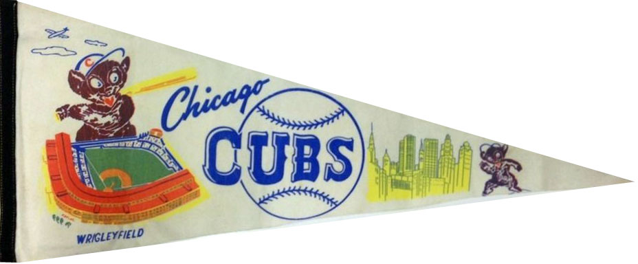 Chicago Cubs Pennant Pennant (1960) -  SportsLogos.Net