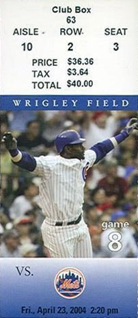 Chicago Cubs Ticket Stub Ticket Stub (2004) -  SportsLogos.Net