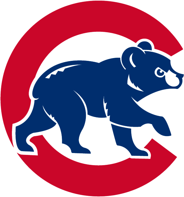 Chicago Cubs Logo Alternate Logo (1997-Pres) - Angry blue cub walking in front of red C SportsLogos.Net