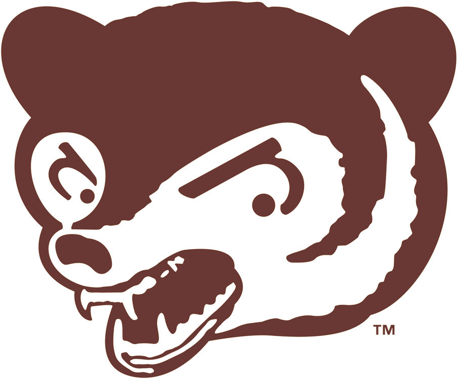Chicago Cubs Logo Primary Logo (1941-1945) - The brown head of an angry bear cub SportsLogos.Net