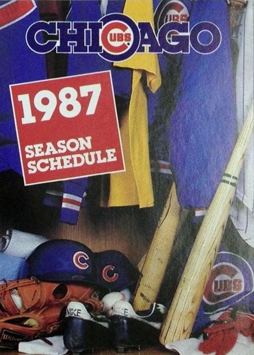 Chicago Cubs Pocket Schedule Pocket Schedule (1987) -  SportsLogos.Net