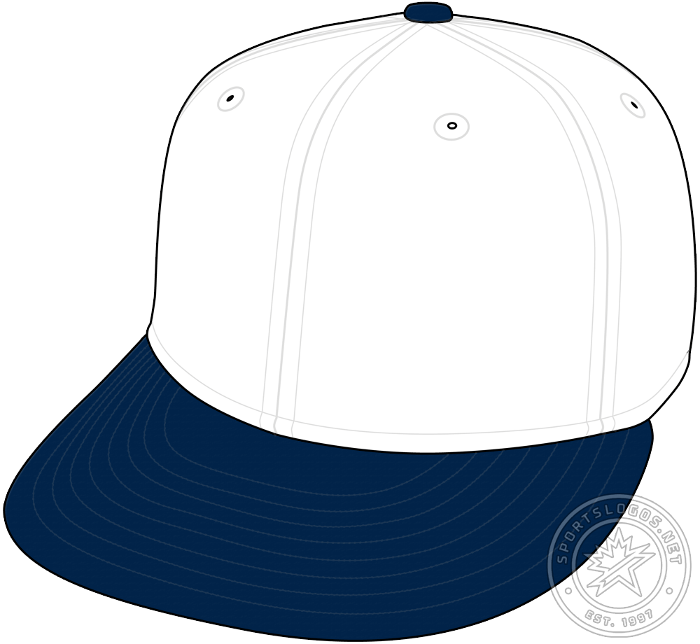 Chicago Cubs Cap Cap (1922-1923) - During the 1922 and 1923 seasons the Chicago Cubs wore a white cap with a navy blue visor during games played at their home ballpark. SportsLogos.Net