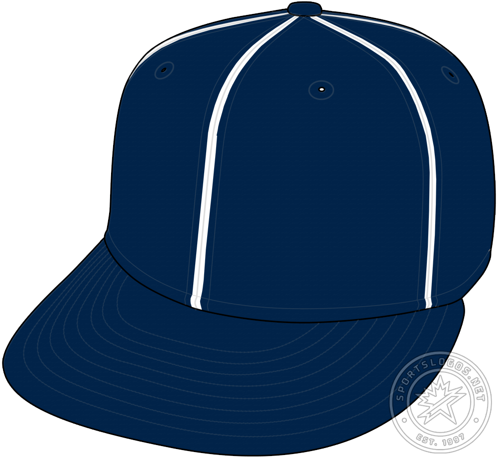 Chicago Cubs Cap Cap (1924-1926) - From 1924 to 1926 the Chicago Cubs wore a navy blue cap with white pinstripes and no logo. This cap was worn for all games in 1924 and then for home games only in the 1925 and 1926 seasons. SportsLogos.Net