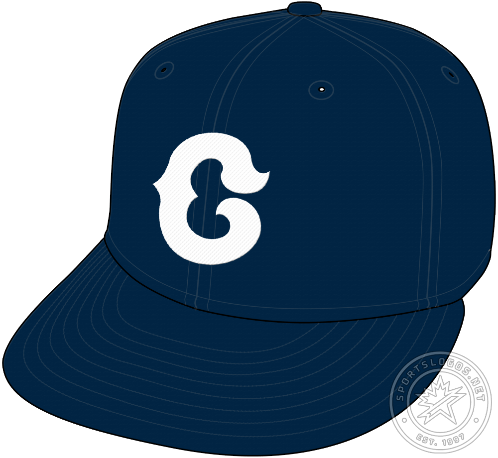 Chicago Cubs Cap Cap (1931-1933) - The Chicago Cubs wore a navy blue cap with a stylized white C on the front as an alternate cap from 1931 through 1933 SportsLogos.Net