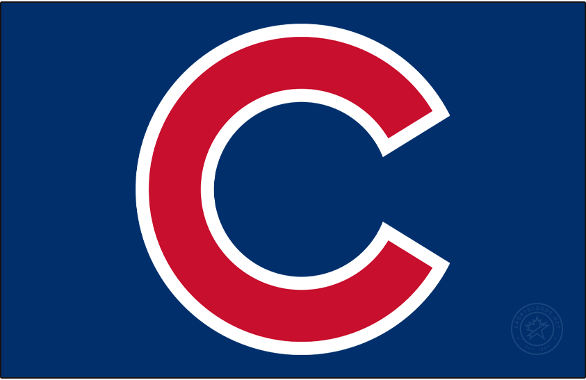 Chicago Cubs Logo Cap Logo (1958-Pres) - Red C with white outline on a blue background SportsLogos.Net