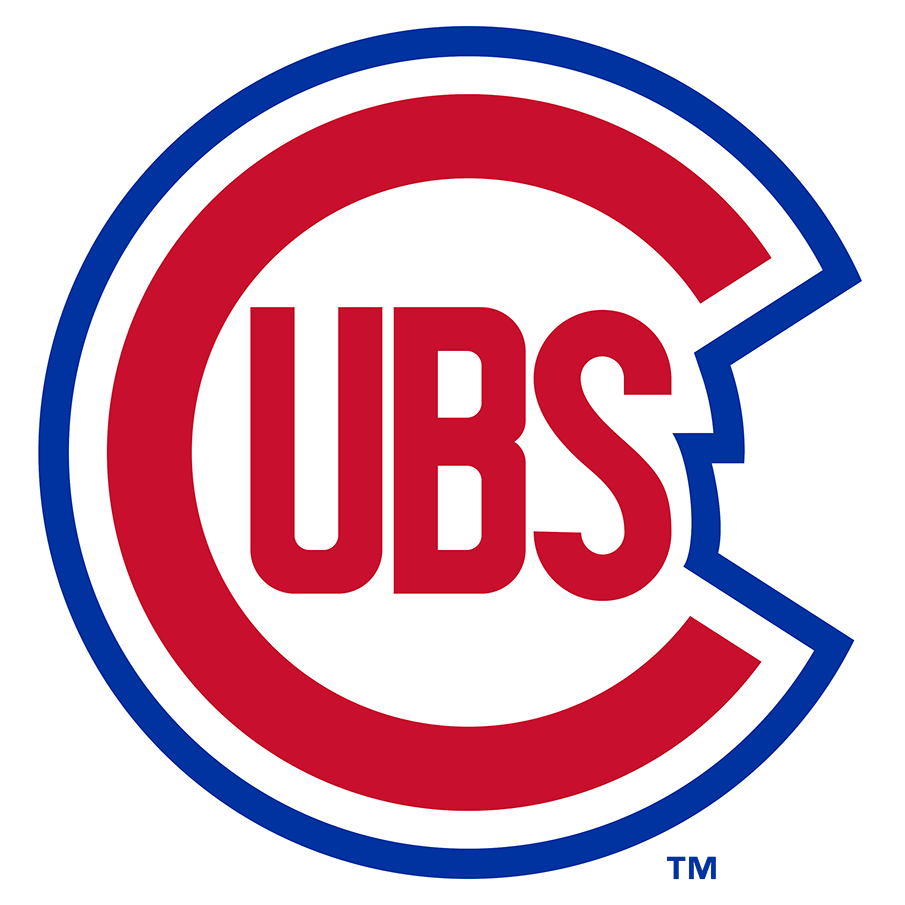 Chicago Cubs Logo Primary Logo (1948-1956) - A slightly modified version of what they had used from 1946-47, the Cubs logo showed a large red C with UBS inside of it outlined in white and royal blue. In 1957 the outline was swapped for a circle. SportsLogos.Net