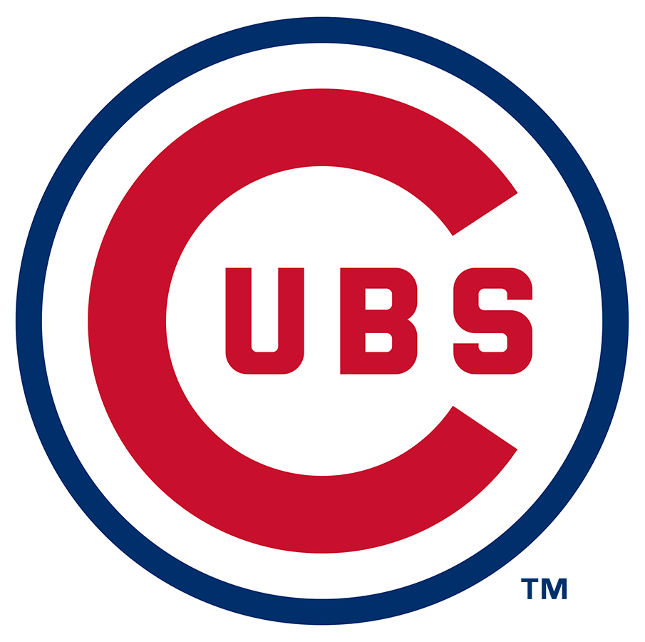 Chicago Cubs Logo Primary Logo (1957-1978) - The Chicago Cubs primary logo, debuting in 1957, is a large red C with UBS inside placed inside of a thin royal blue circle. This logo carried forward in 1979 with a much thicker blue circle around the logo. SportsLogos.Net