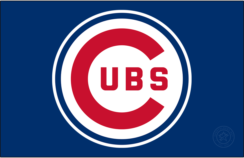 Chicago Cubs Logo Primary Dark Logo (1957-1978) - The Chicago Cubs primary logo, debuting in 1957, is a large red C with UBS inside placed inside of a thin royal blue circle. This logo carried forward in 1979 with a much thicker blue circle around the logo. SportsLogos.Net