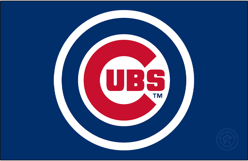 Chicago Cubs Logo Primary Dark Logo (1979-Pres) - The Chicago Cubs primary logo, debuting in 1979, is a modified version of what they had been wearing since 1957. The logo shows a large red C with UBS inside placed inside of a royal blue circle. SportsLogos.Net