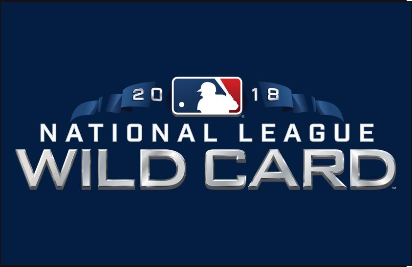 NL Wildcard Game Logo Primary Dark Logo (2018) - 2018 National League Wildcard Game Logo on blue SportsLogos.Net
